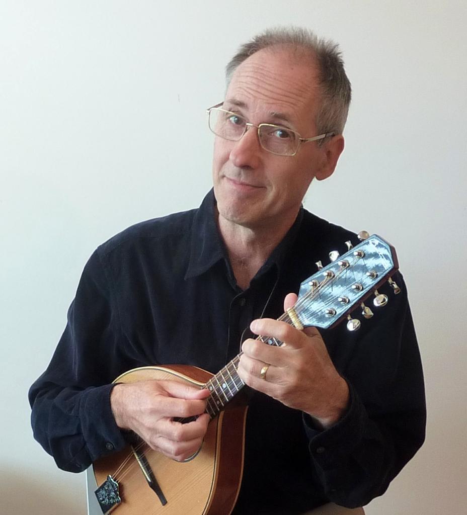 Hugh Boyde with mandolin